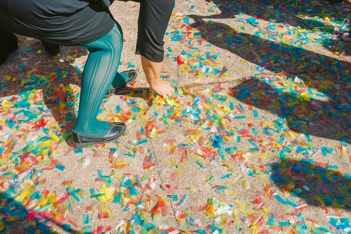 Colourful paper confetti | Mexican Inspired Wedding + 1950s themed wedding | I take you #weddingceremony #wedding