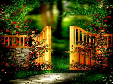 Garden Gate 3d And Cg Amp Abstract Background Wallpapers On Garden Backdrops Background For Photography Beautiful Doors Garden background images hd download