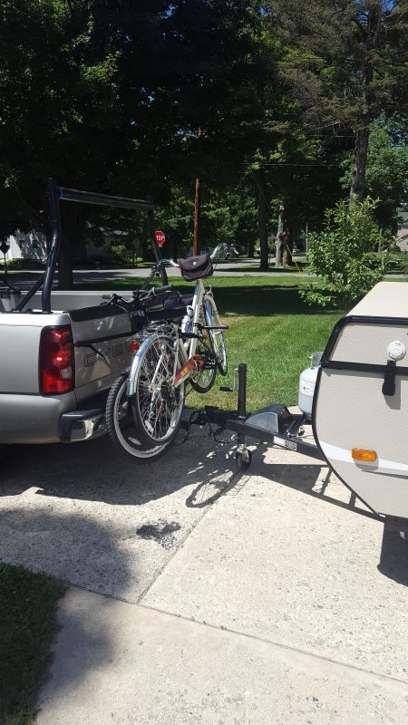 Curt Clamp On 3 Bike Rack For 2 Ball Mounts Towing Curt Hitch