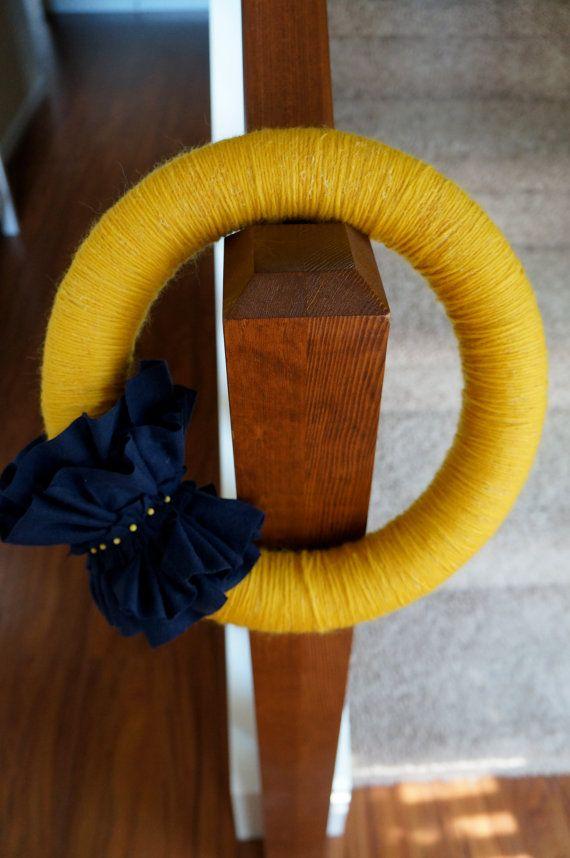 Beautiful yarn and felt #wreath 12 inch wreath Yarn by Alimark12, $24.49