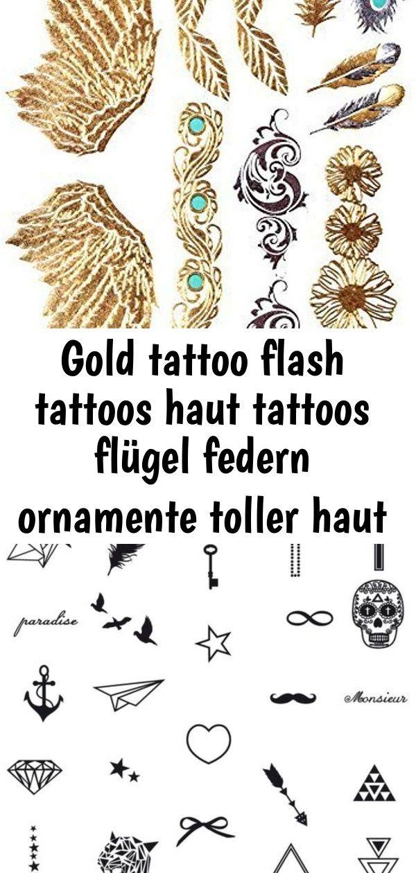 Gold tattoo flash tattoos haut tattoos flügel federn ornamente toller haut schm  7 GOLD Tattoo Flash Tattoos Haut Tattoos Flügel Federn Ornamente toller Haut Sc...