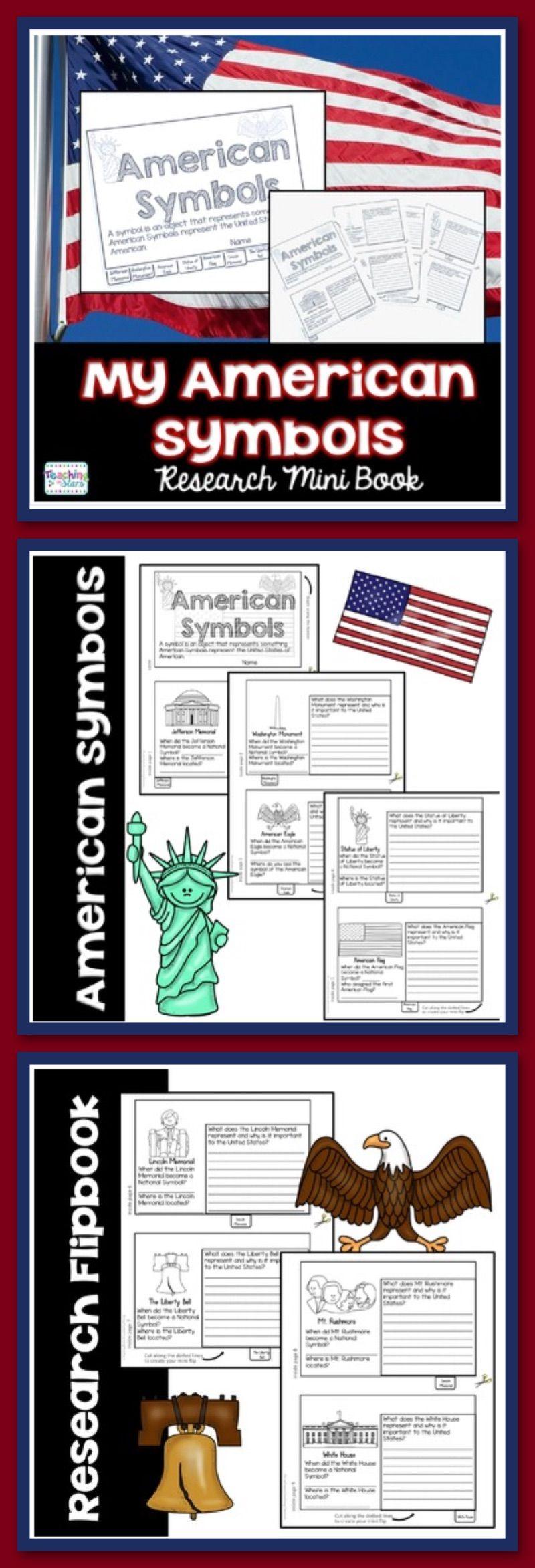 American Symbols Flip Book Symbolism Pinterest American