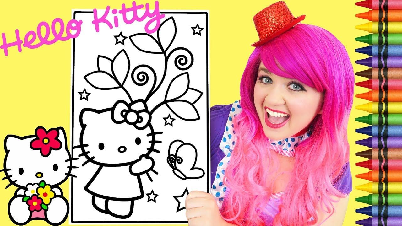 Coloring Hello Kitty Spring Flowers Giant Coloring Book Page Crayola Cra Coloring Book Pages Coloring Books Hello Kitty