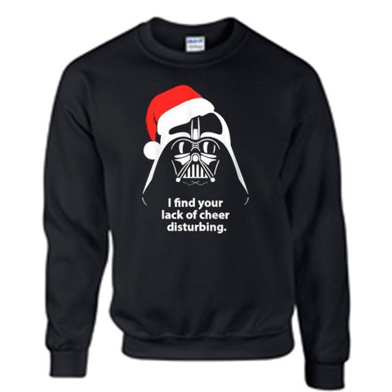 Star Wars Ugly Christmas Sweater Party I Find Your Lack Of Cheer Disturbing Santa Darth Vader May The Force Be With You CwLDj