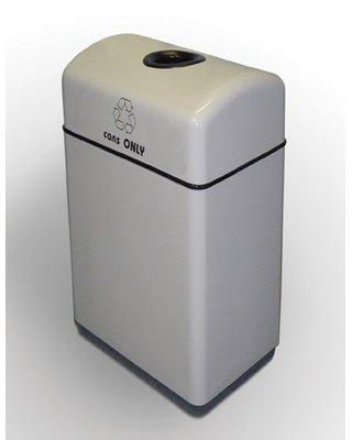 Allied Molded Products Palmetto 1 Stream 11 Gallon Multi Compartments Recycling Bin Colour Russian Sky Recycling Bins Trash Recycling Bin Recycling