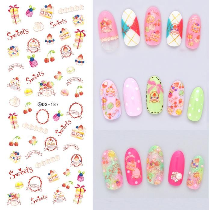 Make Up Product Design Water Transfer Nails Art Sticker Pink Sweet - How to make nail decals at homemake nail art stickers home nail art ideas