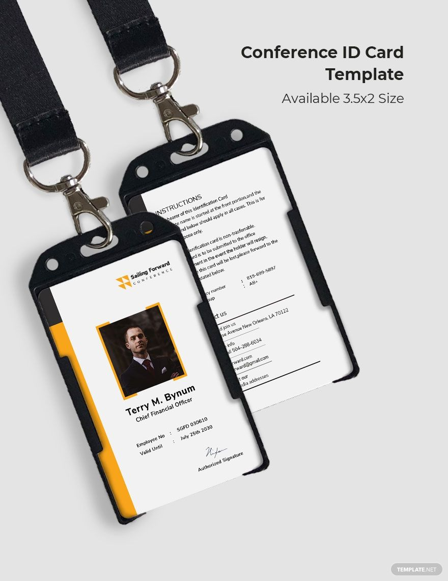 Conference Id Card Template Word Doc Psd Indesign Apple Mac Pages Illustrator Publisher Id Card Template Card Template Cards
