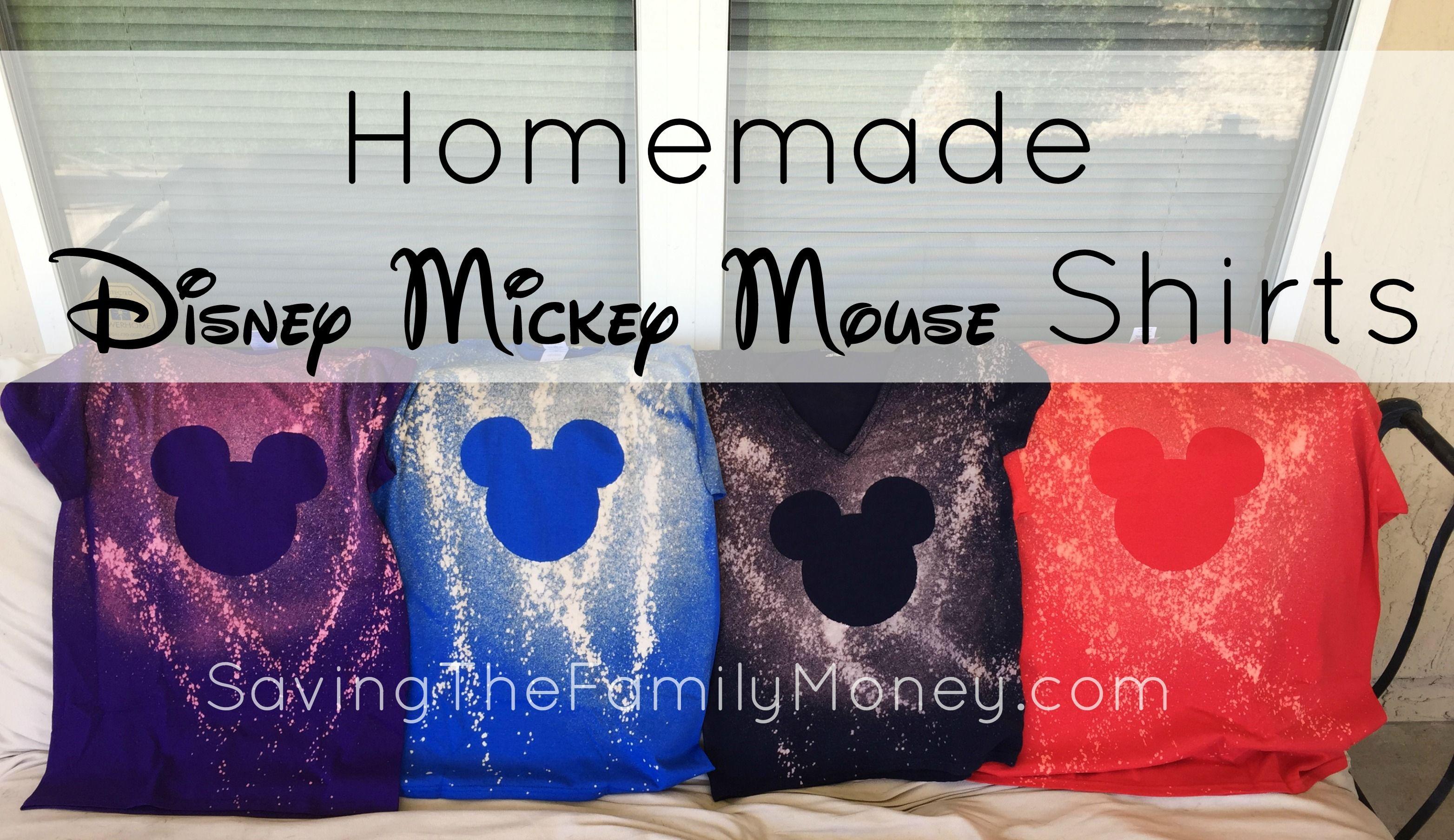 Homemade Disney Mickey Mouse Shirts