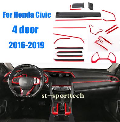Abs Interior Accessories Whole Kit Covers Trim Set Fit For Honda Civic 2016 2019 Ebay Honda Civic Honda Civic 2016 Honda Civic Sedan
