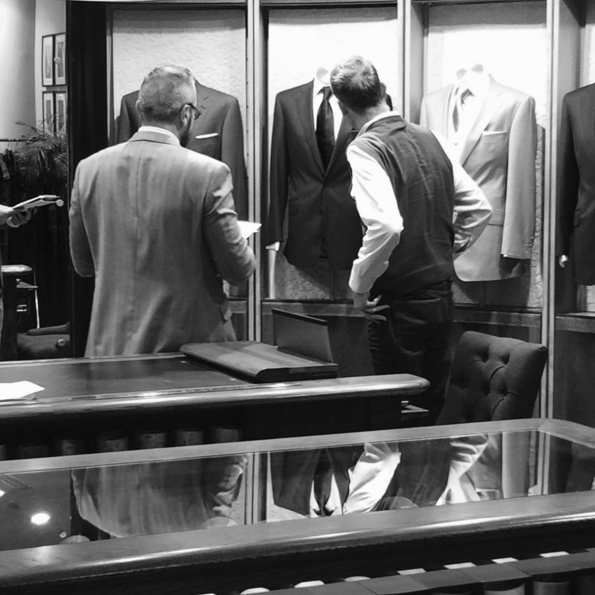 It's all about the fit - Making the perfect suit with Simon Hills @thetimesmagazine #savilerow #mensfashion #made2measure #suits #theperfectfit #menswear