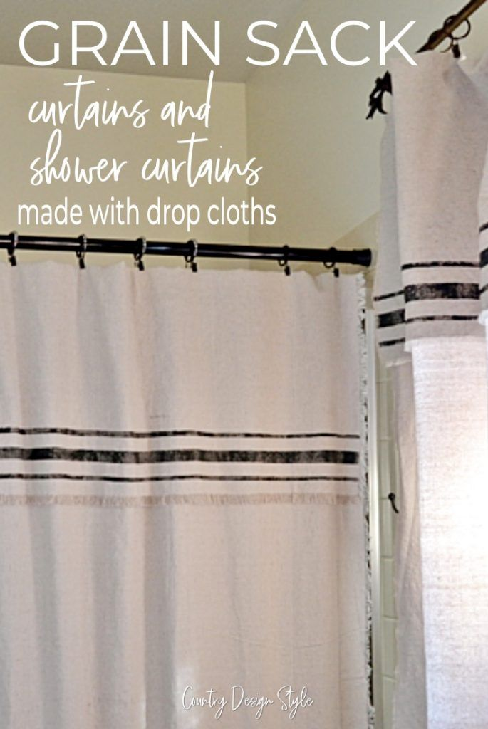 Grain Sack Inspired Curtains Curtains How To Make