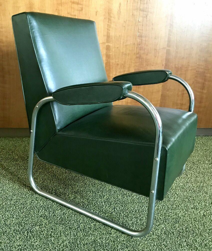 Mcm Multi Colored Accent Chair: Details About Vtg Tubular Chrome Chair Accent Vinyl