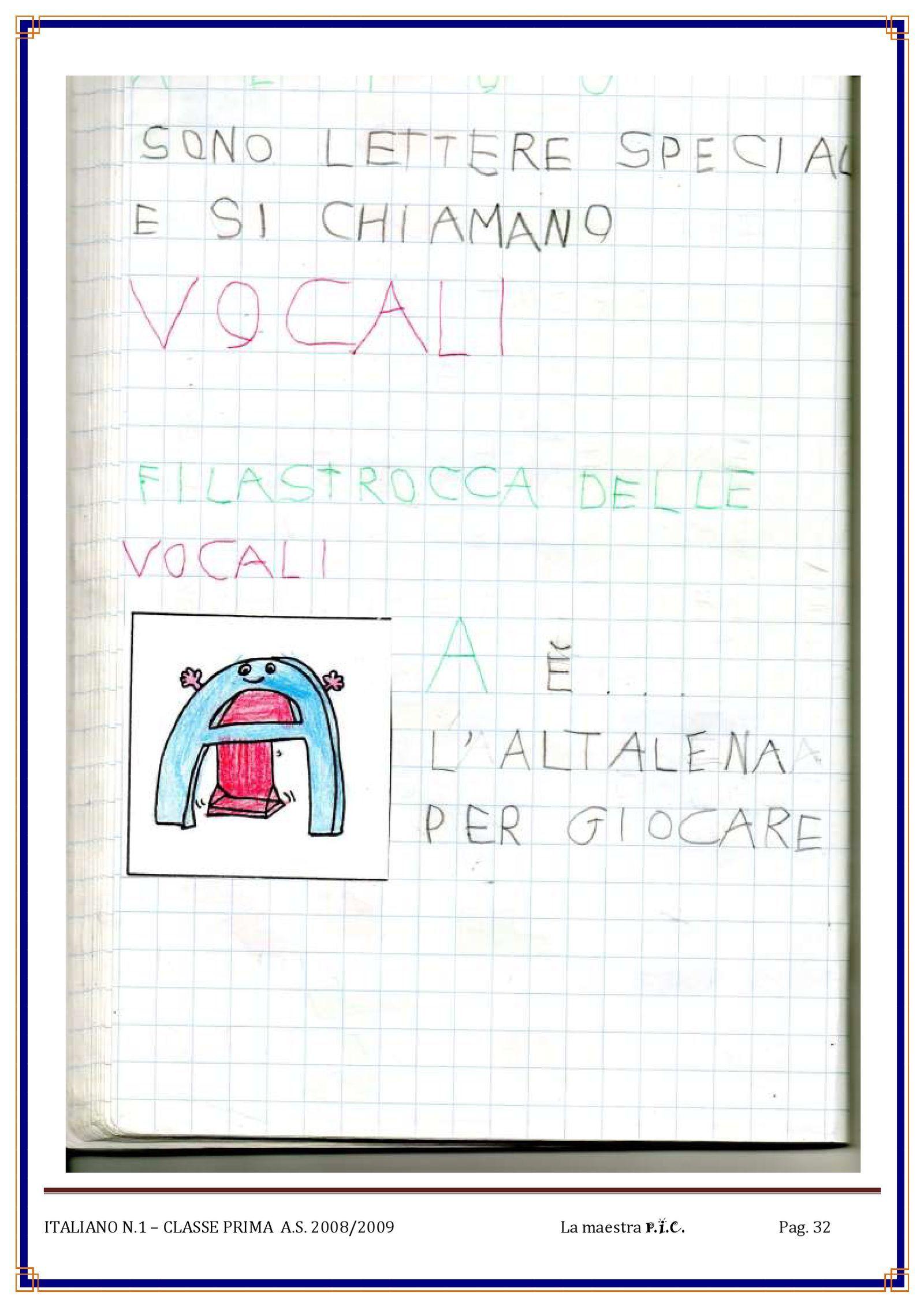 Il Mio Quaderno Di Italiano Pdf To Flipbook Prima Elementare