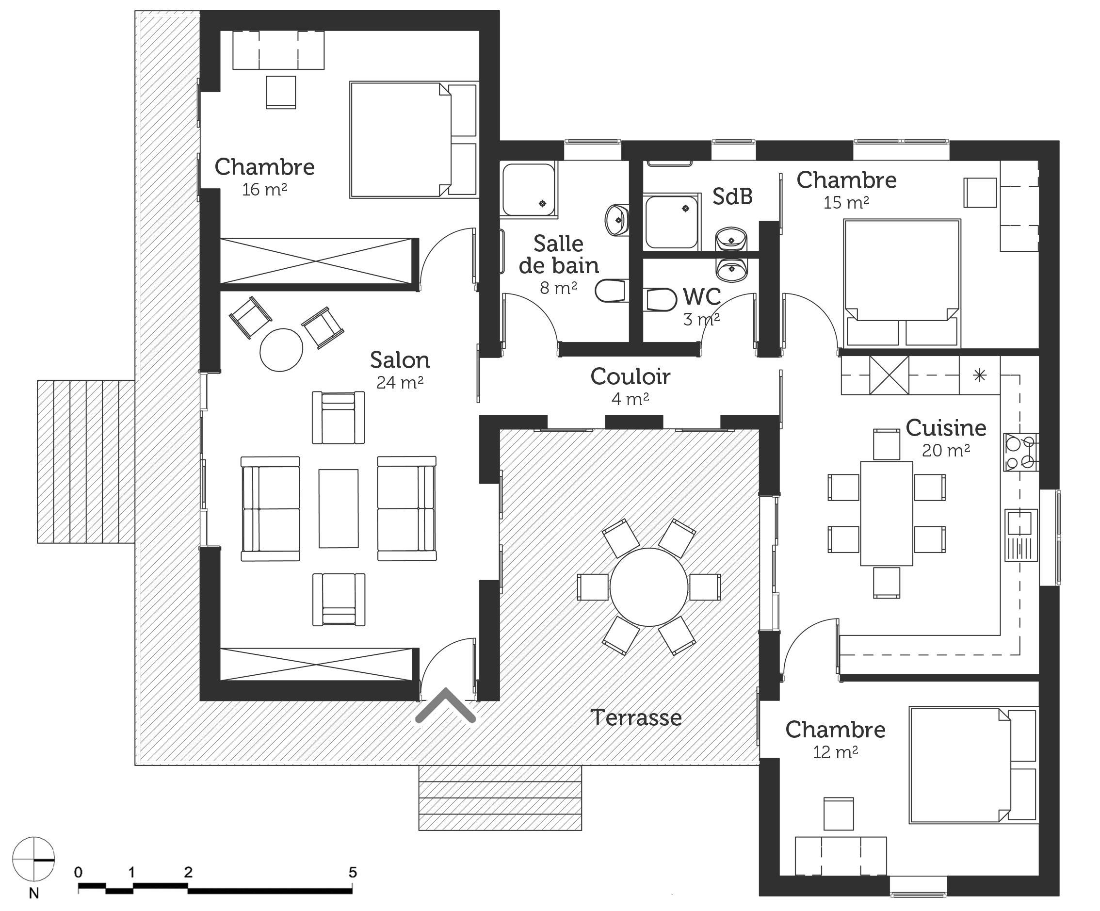 Résultat De Recherche D Images Pour Plan Maison Cube Toit