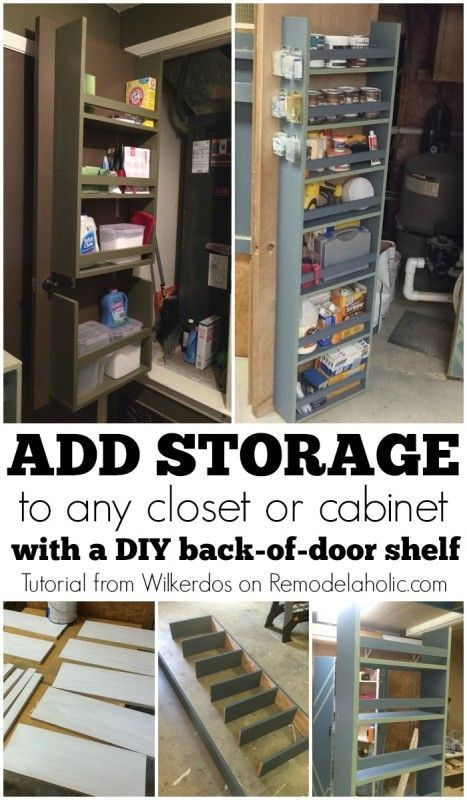 Add Closet Or Cabinet Storage By Building A Shelf On The Back Of The Door