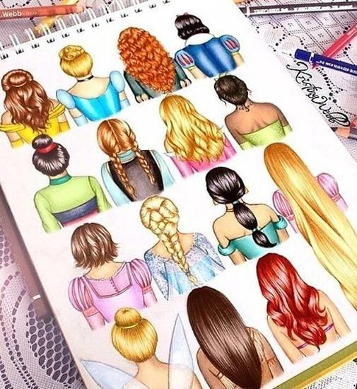 Disney Princess Hairstyle Book Disney Divas Pinterest Disney