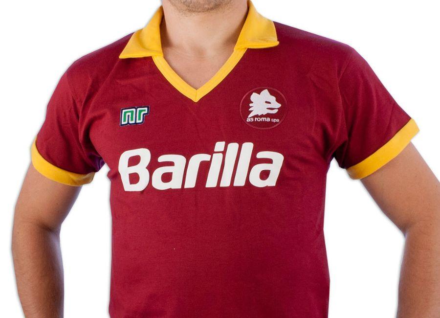 Ennerre As Roma 1981 82 Home Barilla Retro Shirt Retro Football Shirt Blog Retro Football Shirts Vintage Football Shirts Football Shirts