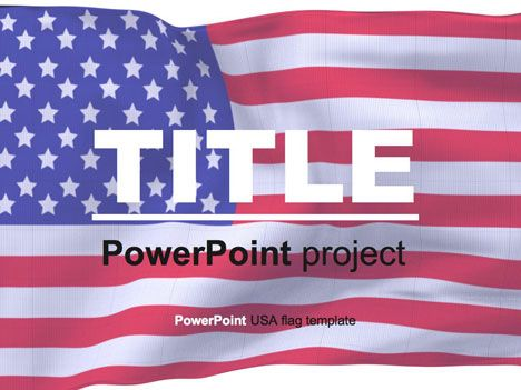American flag PowerPoint template is useful for any american - history powerpoint template
