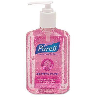 Purell Spring Bloom Instant Hand Sanitizer 8oz Pump Bottle Pink