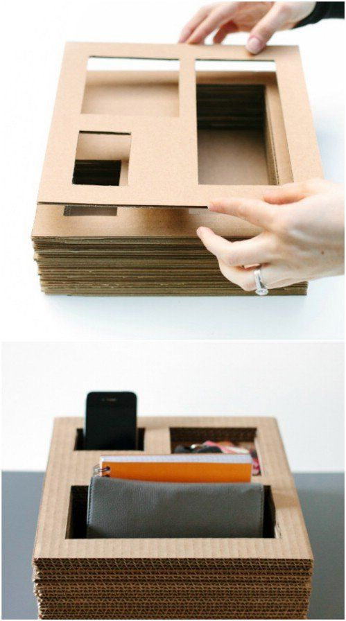 35 Brilliant DIY Repurposing Ideas For Cardboard Boxes -   19 cardboard crafts organizers ideas