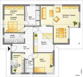 Für den Urlaub Zuhause Grundriss bungalow, Haus