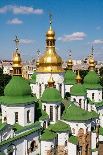 Green rooftops in Kiev, Ukraine.