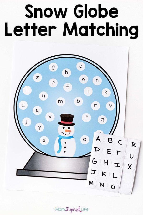 Snowman Alphabet Activity And Printable Winter Activities Preschool Winter Theme Preschool Winter Literacy Activities