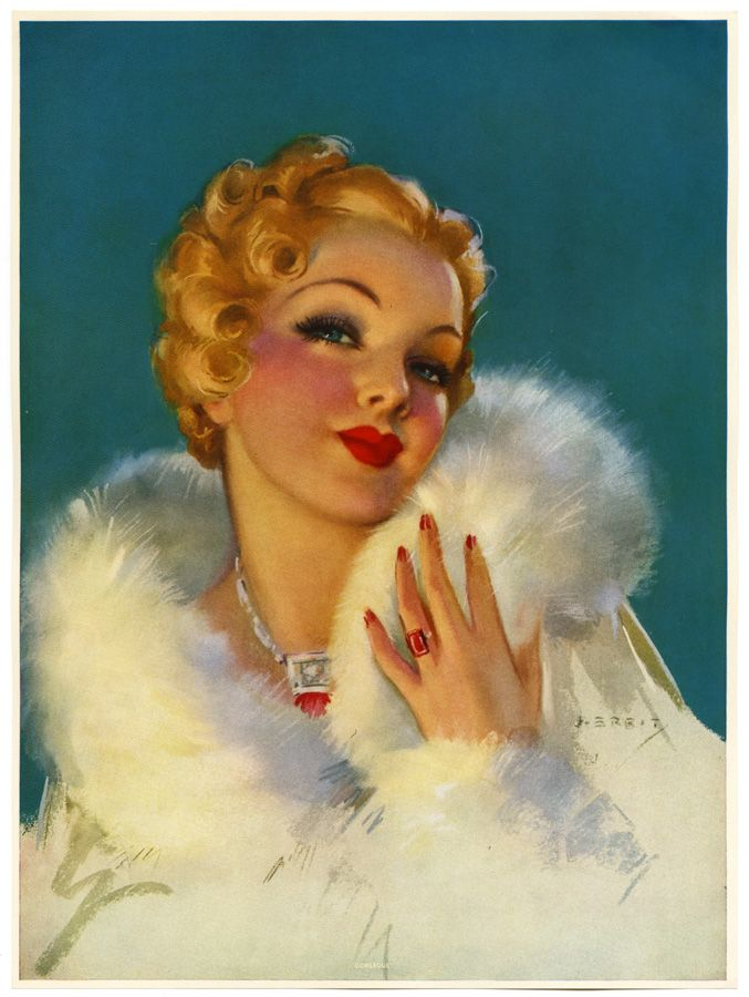 1930s by Jules Erbit #vintage #illustration
