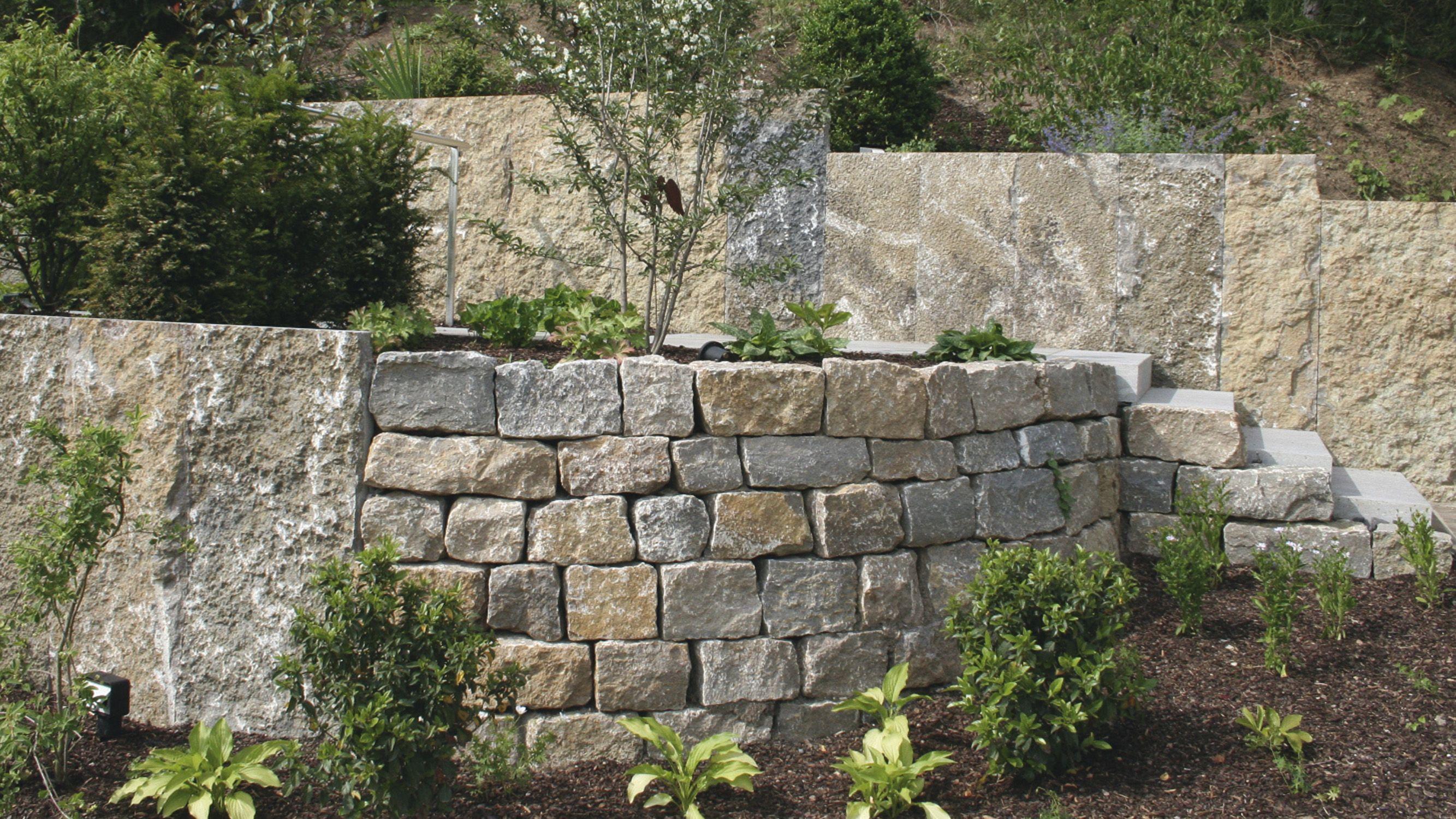 Bruchsteine Garten Steine Mauer Garten Porphyr Steine Natursteine