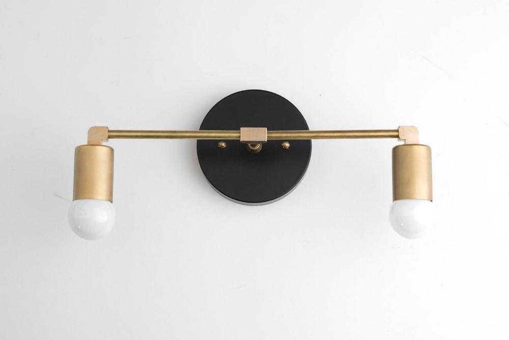 Photo of Vanity Light Fixture – Bathroom Sconce – Vanity Lighting – Brass Black Vanity – Mid Century Modern – Contemporary Lighting – Model No. 8412