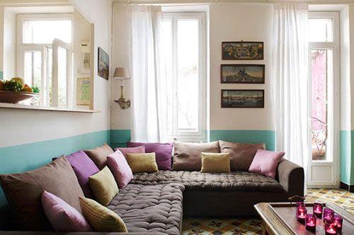 Halve muur schilderen in de woonkamer - Muur   Pinterest - Muur ...