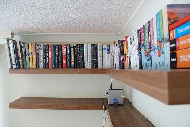 Floating Bookshelves At Ceiling Level Floating Corner Shelves