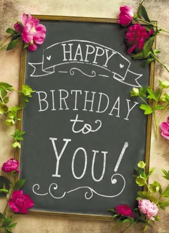 Happy Birthday Woman Bloemen