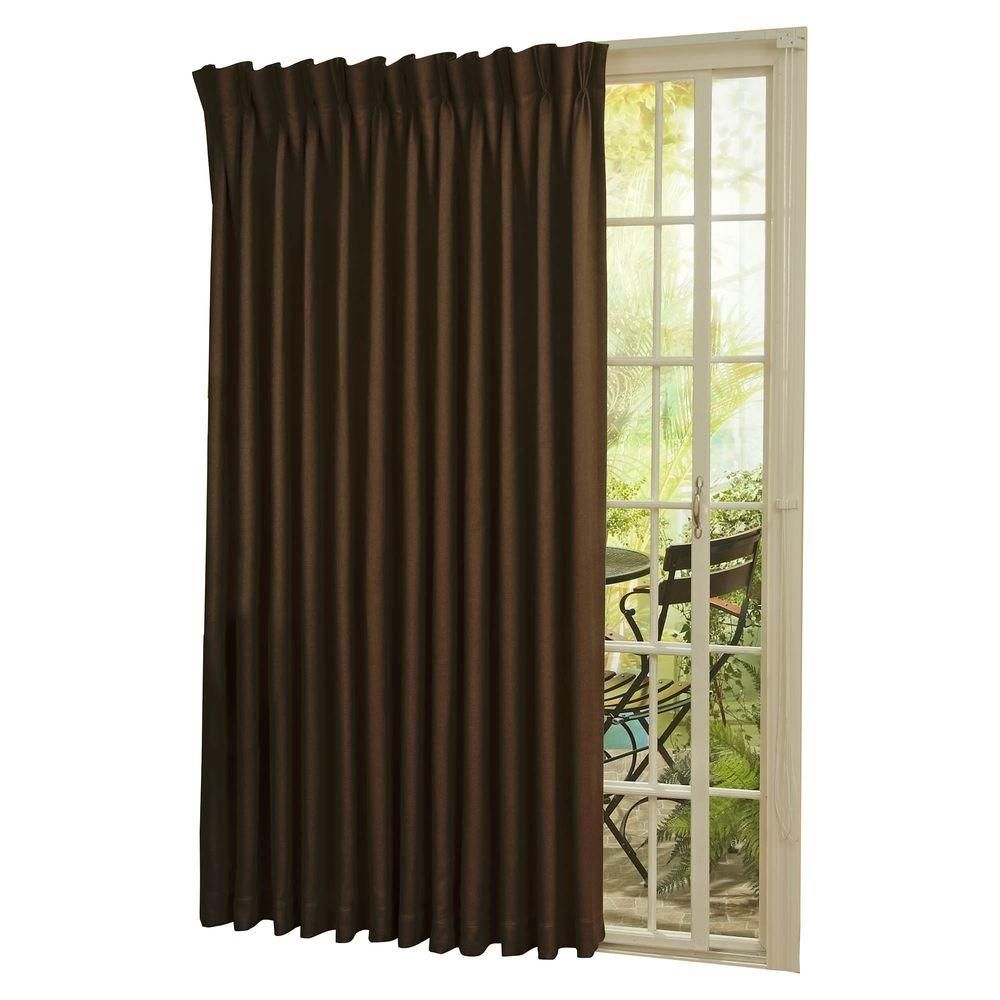 Eclipse blackout thermal blackout patio door in l curtain panel
