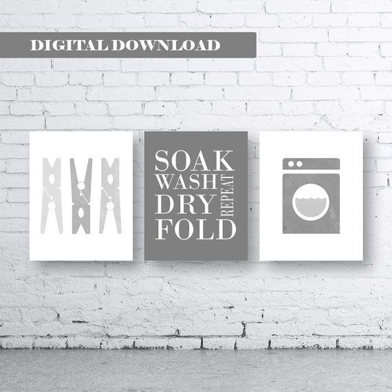 Laundry Room Art Print. Set of Three (3)-Instant Download. Soak Wash Dry Fold Repeat. Laundry Sign. Laundry Decor. Gray Laundry. Grey Laundr #graylaundryrooms Laundry Room Art Print. Set of Three (3)-Instant Download. Soak Wash Dry Fold Repeat. Laundry Sign. Laundry Decor. Gray Laundry. Grey Laundr #graylaundryrooms