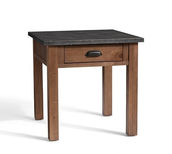 Best Channing End Table Coffee Table Pottery Barn Metal End 640 x 480