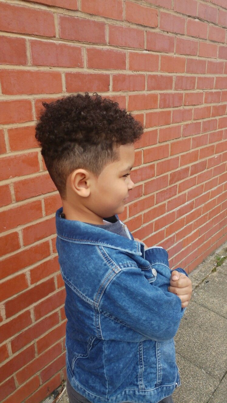 fading high top, mixed race, boys hair | my lil guy in mind