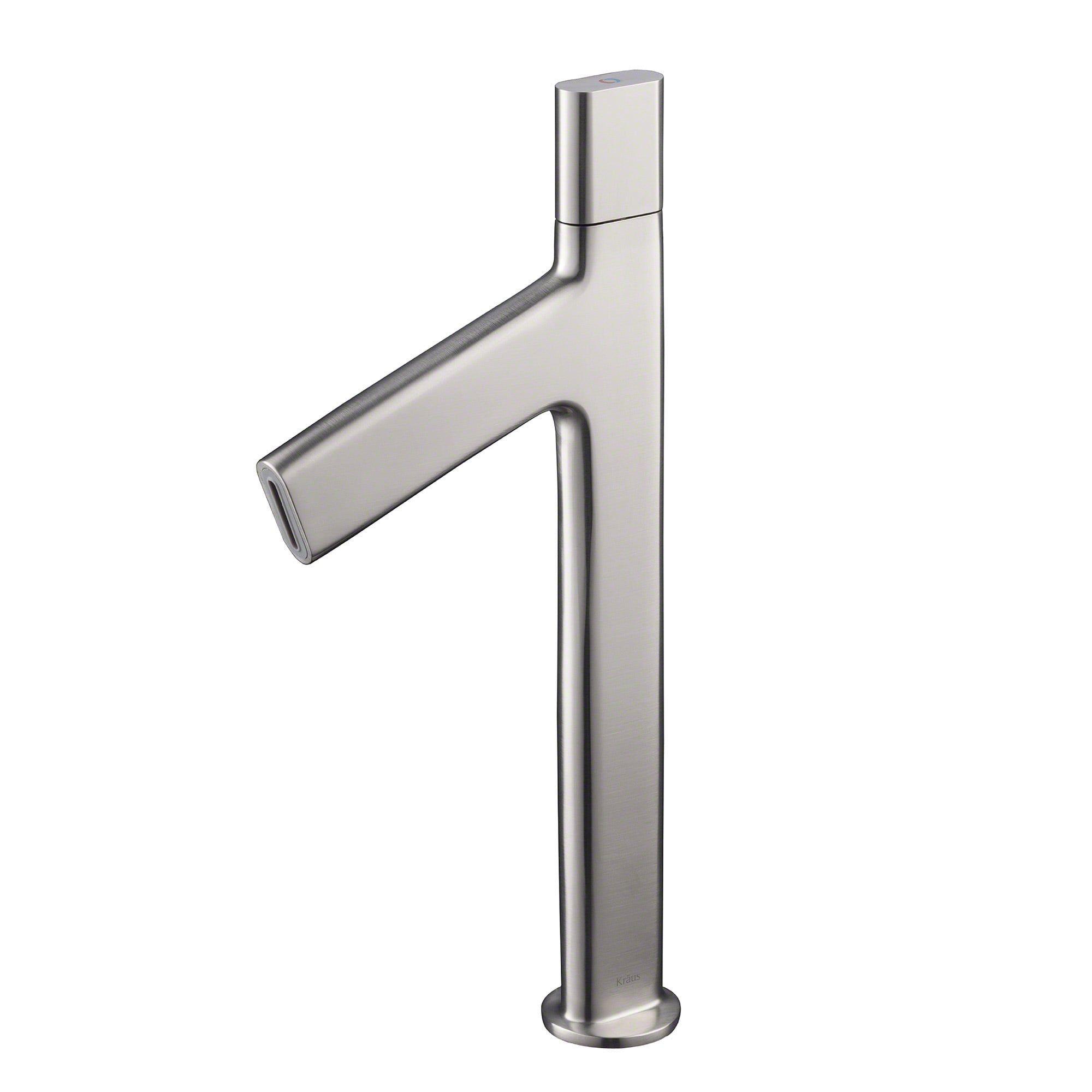 Kraus Ino™ Vessel Single Handle Bathroom Faucet with Custom Laminar ...