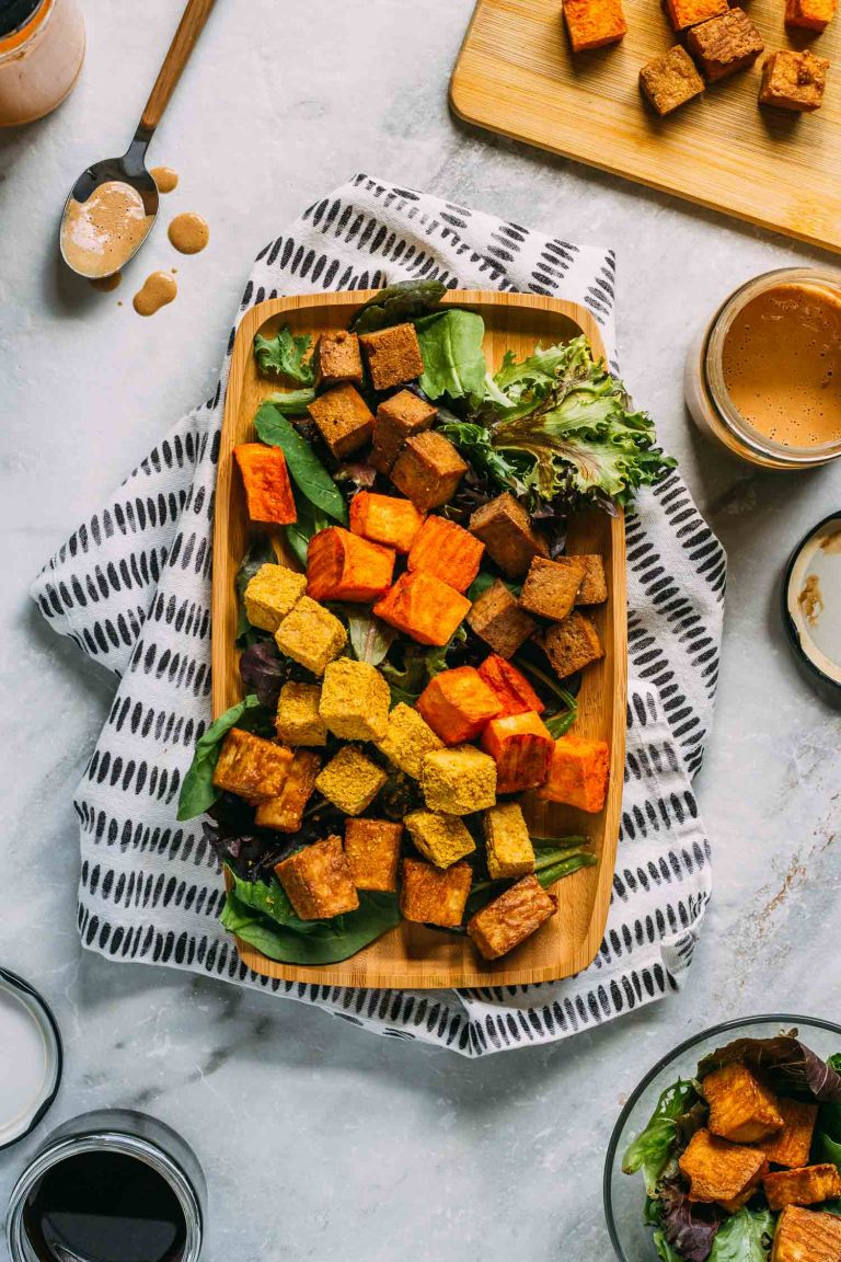 Savory Oil-Free Baked Tofu - Four Ways Recipe   Vegan