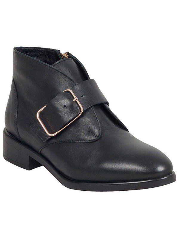 19b6800b554890 Miz Mooz Lou Reed Ankle Boot in Black