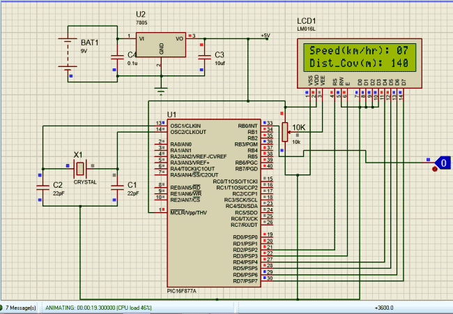 Speedometer And Odometer Circuit Using Pic Simulation