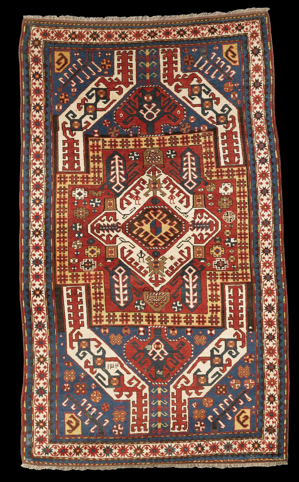 "Antique Karabagh ""Kasim Ushag"" rug, AH 1340 dated (1921 AD), Elisabethpol Governorate (Елизаветпольская губерния), Zangezur Uyezd, Kasim Ushak Oba"