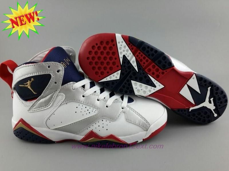 d631f60d5f1aee Buy AIR JORDAN 7 RETRO 304775-135 OLYMPIC White Gold Blue