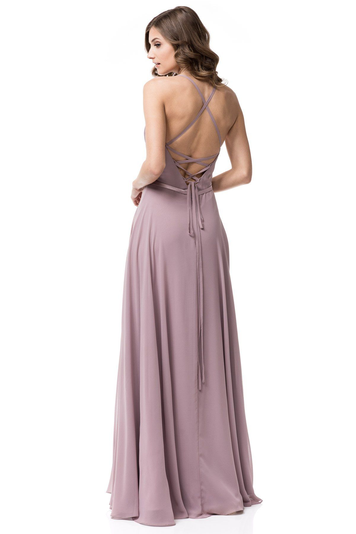 0f1df1b0153d9 Satin waist band hugs your waistline. Ruched bodice and lace back adds to  the charm. Available in Mauve and Plum ...