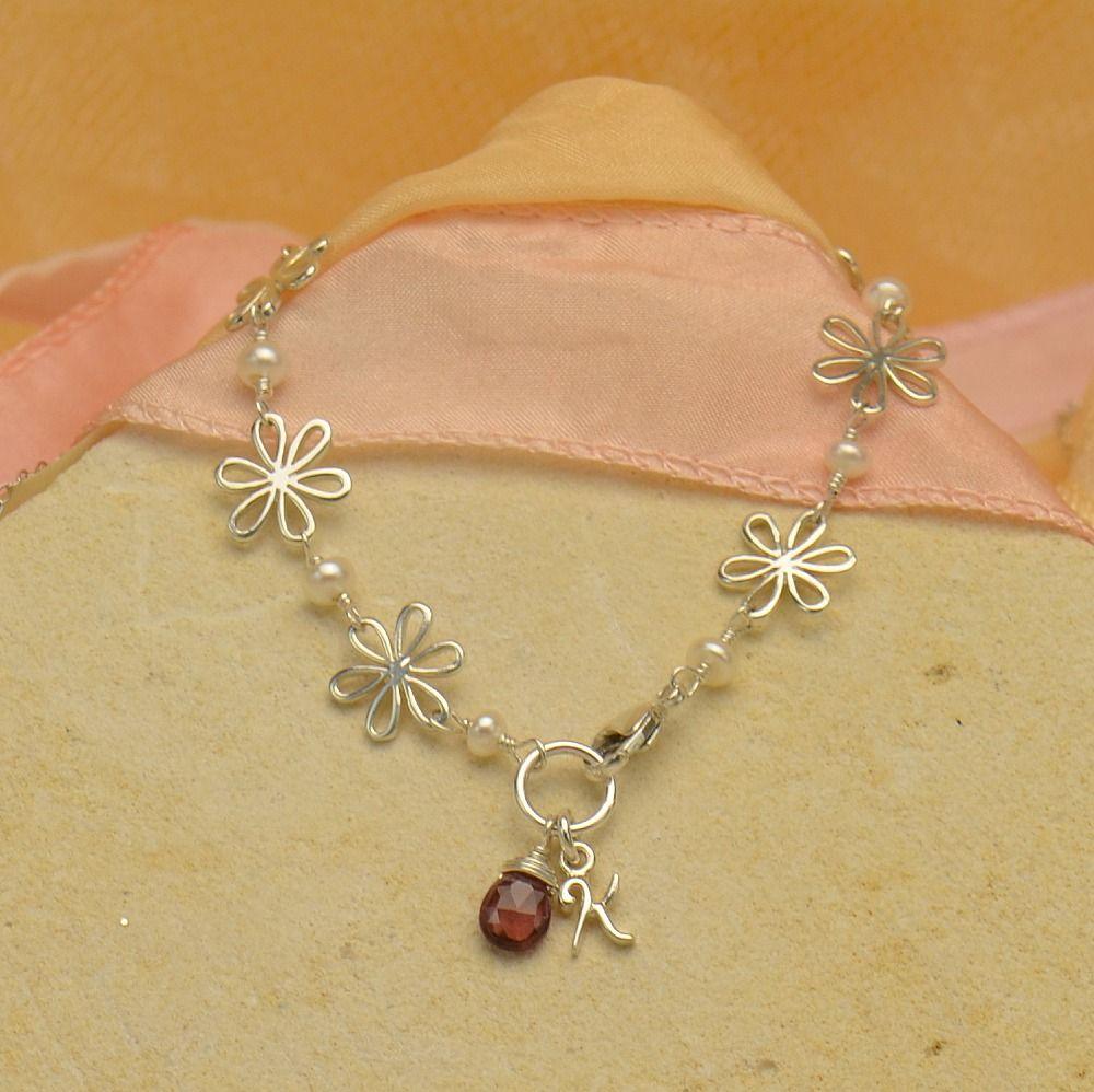 Bridal jewelry wedding jewelry flower girl jewelry bracelet