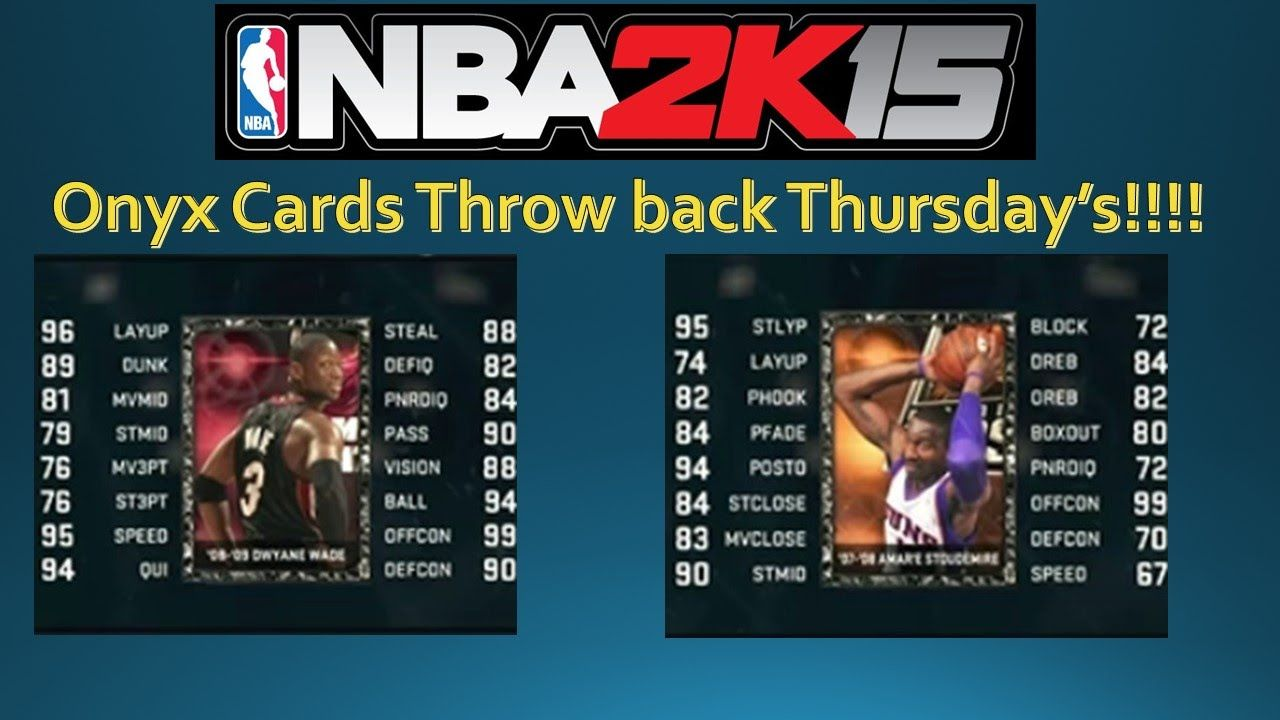 """NBA 2K15 My Team - Throwback thursday cards/onyx! - 08-09 D wade, 07-08 ...  ► Follow me on Twitter https://twitter.com/cassarslaker24 ► Follow me on Twitch: http://www.twitch.tv/cassarslakers24   Sponsored by CinchGaming - Use Code """"Cassar24"""" for 5% Discount! http://cinchgaming.com/  Subscribe For More NBA 2K15 MyCAREER Gameplay! http://goo.gl/5Bzp83  Keep Up With My NBA 2K15 My Career Series: http://goo.gl/6xYDb3  ► Like me on facebook: goo.gl/Lhwbww ► Follow me on instagram…"""