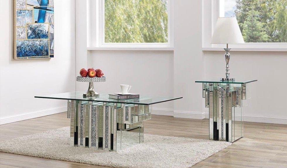 Park Art|My WordPress Blog_Glass Mirror Coffee Table Set