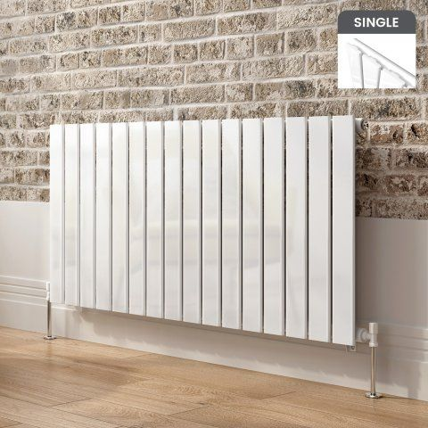Hayes Horizontal Flat Panel Designer Gas Radiator In White 600mm X 1210mm Soak Com With Images Horizontal Radiators Radiators Modern Flat Panel Radiators
