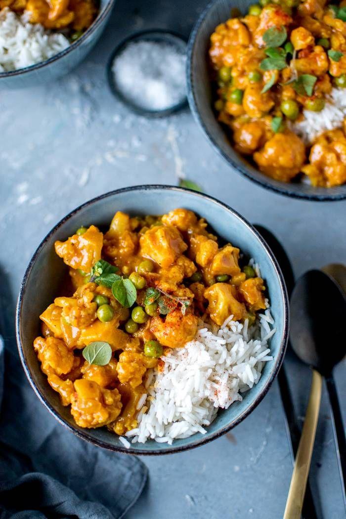 Blumenkohl-Curry: Vegetarisches Soulfood ⋆ Knusperstübchen #indianfood
