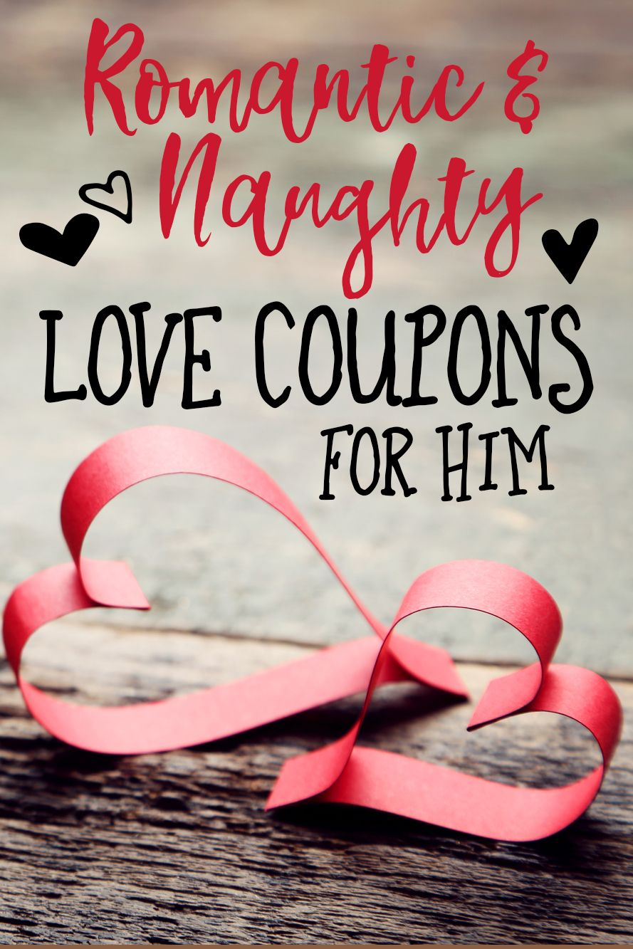 Romantic And Naughty Printable Love Coupons For Him is part of Love coupons for him, Coupons for boyfriend, Love coupons, Coupons, Boyfriend diy, Romantic - Bring sexy fun into the bedroom with romantic and naughty Printable Love Coupons  Includes date nights, weekend getaways, romantic dinners, massages, get a free pass, guys night out, and more